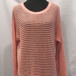 Apt 9 Coral Asymmetric Long Sleeve Sweater